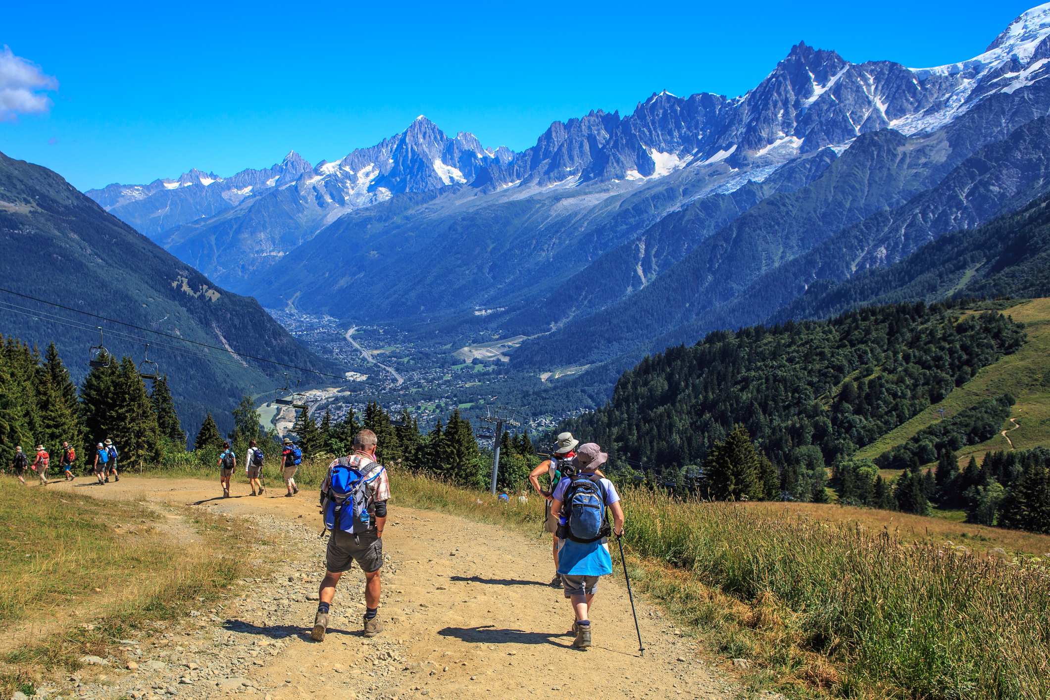 Les Houches. Hiking in Chamonix with Russell Tours