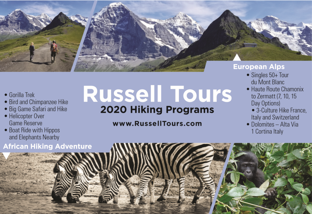 Russell Tours 2020 Hiking Programs