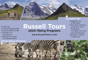 RussellTours 2020 Hiking Priograms