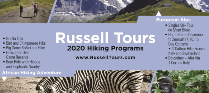 Russell Tours 2020 Hiking Programs Overview